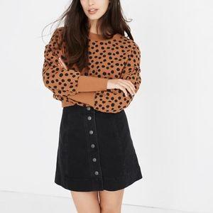 Madewell | Metropolis Snap Denim Black Mini Skirt